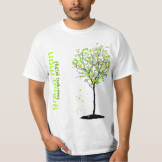 PixDezines Green man T-Shirt