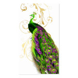 PixDezines green peacock+filigree/diy fonts Pack Of Standard Business Cards
