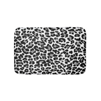 PixDezines Grey Leopard Print/DIY background color Bath Mat