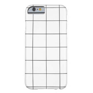 PixDezines grid/monochrome/DIY color Barely There iPhone 6 Case