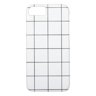 PixDezines grid/monochrome/DIY color iPhone 7 Case