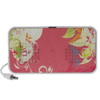 PixDezines Grunge Floral Speaker System