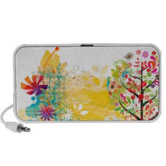 PixDezines Grunge Floral Portable Speaker
