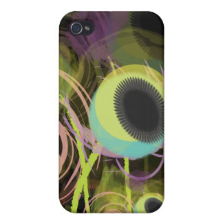 PixDezines Grunge Poppies, Blue Cover For iPhone 4