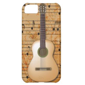 PixDezines Guitar+Vintage Sheet Music iPhone 5C Case