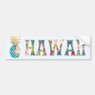 PixDezines Hawaii Pineapple Bumper Sticker