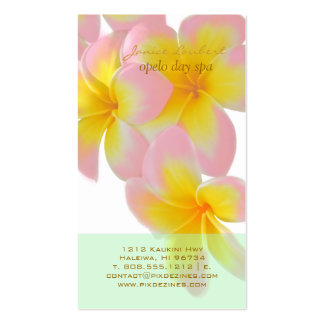 PixDezines Hawaii Pink Plumeria/DIY color Business Card