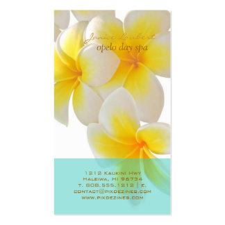 PixDezines Hawaii Plumeria Business Cards