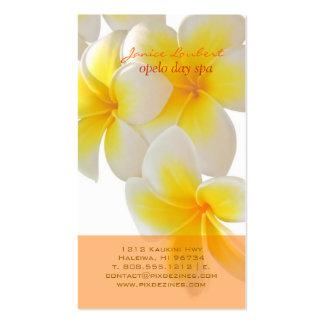 PixDezines Hawaii Plumeria Business Card Templates