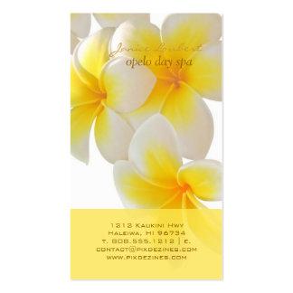 PixDezines Hawaii Plumeria Business Card