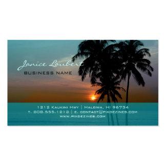PixDezines Hawaiian Beach Sunset Business Card Template