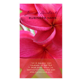 PixDezines hawaiian pink plumeria Business Cards
