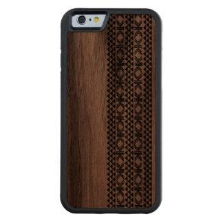 PixDezines hawaiian tattoo/DIY color Carved Walnut iPhone 6 Bumper Case