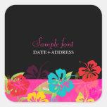 PixDezines hibiscus/diy background colour Stickers