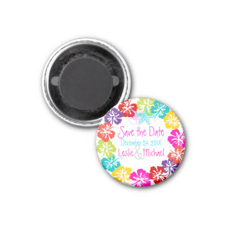 PixDezines hibiscus lei, Save the Date Magnet