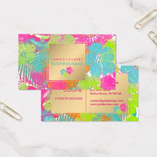PixDezines hibiscus/rainforest/DIY background Business Card