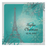 PixDezines Hiver à Paris /Eiffel Tower + swirls Invitation