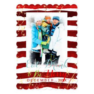 PixDezines holiday cards/DIY color stripes 13 Cm X 18 Cm Invitation Card