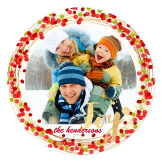 PixDezines holly wreath/holiday cards 13 Cm X 13 Cm Square Invitation Card