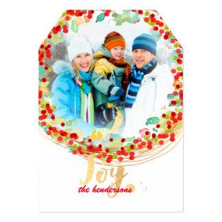 PixDezines holly wreath/holiday cards 13 Cm X 18 Cm Invitation Card
