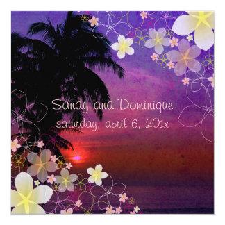 PixDezines hula dream/plumeria/beach/tropical Card