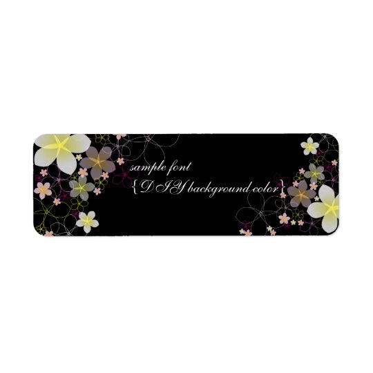 PixDezines hula moon/plumeria/diy background Return Address Label