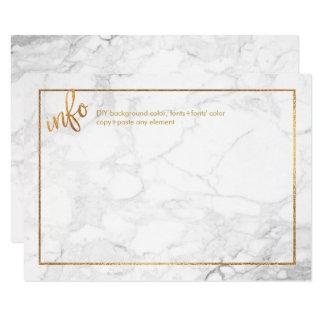 PixDezines INFORMATIONS CARDS/MARBLE+FAUX GOLDI Card
