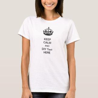 PixDezines keep calm/DIY text/personalize it T-Shirt
