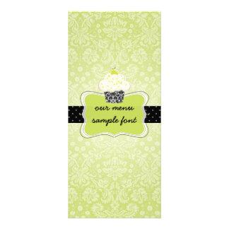 PixDezines key lime cupcakes menu Custom Rack Card