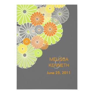 PixDezines Kiku (chrysanthemum), citrus color Card