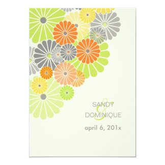 PixDezines Kiku (chrysanthemum), citrus color Card