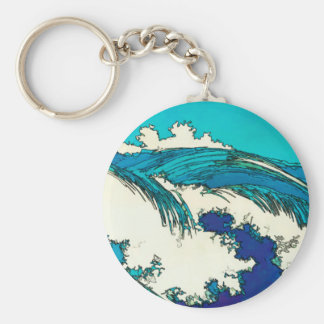 PixDezines konen uehara ocean waves, 上原 Key Ring