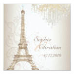 PixDezines la tour eiffel/paris 13 Cm X 13 Cm Square Invitation Card