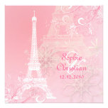 PixDezines la tour eiffel/paris Personalised Invite