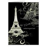 PixDezines La Tour Eiffel+Swirls Card