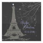 PixDezines La Tour Eiffel+Swirls Personalised Invitations