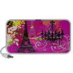 PixDezines La Tour Eiffel + swirls iPod Speaker