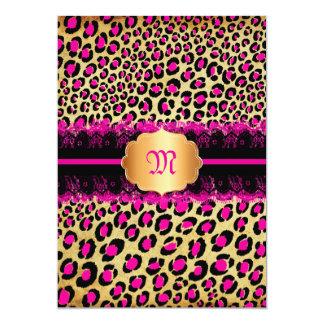 PixDezines lace+leopard spots/pink+black Card