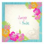 PixDezines leis/hibiscus, beach/diy colour Invite
