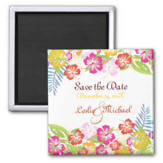 PixDezines Leis Hibiscus, Save the Date Magnet