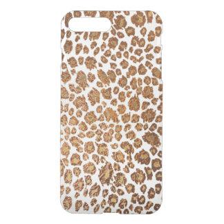 PixDezines Leopard Print/Faux Copper/DIY Bckgrnd iPhone 7 Plus Case
