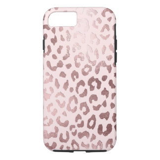 PixDezines Leopard Print/Faux Rose Gold iPhone 8/7 Case