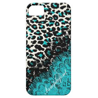 PixDezines leopard spots/faux lace iPhone 5 Case