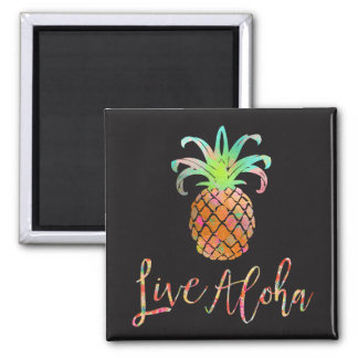 PixDezines Live Aloha Pineapples/DIY background Magnet