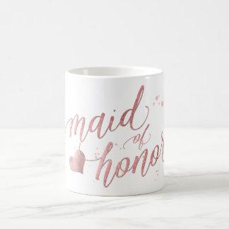 PixDezines Maid of Honour/Faux Rose Gold/Fun Coffee Mug