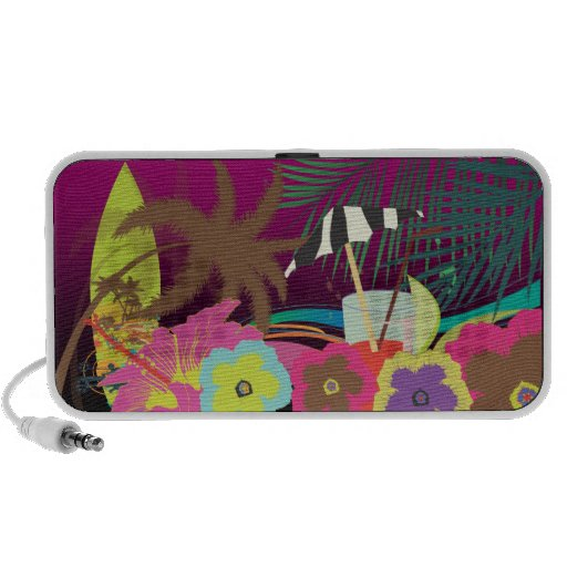 PixDezines Maitai on the beach ♥♥♥♥ Mini Speakers
