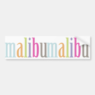 PixDezines malibu/DIY background color Bumper Sticker