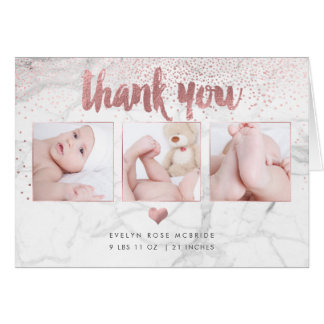 PixDezines Marble Baby Shower/Photos Thank You Card