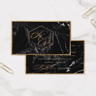 PixDezines Marble+Faux Gold Elegant Script /Gift Business Card