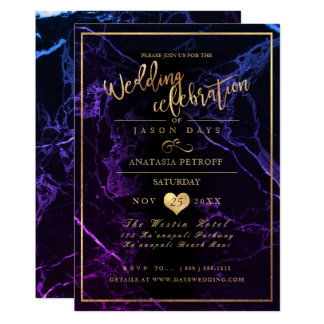 PixDezines Marble/Faux Gold/Wedding Celebration Card
